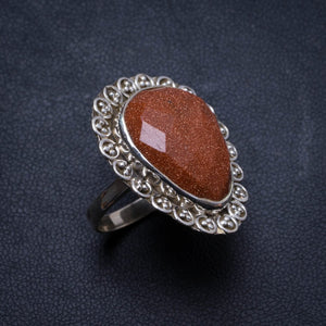 Natural Sun Sitara Handmade Unique 925 Sterling Silver Ring, US size 7.5 X2866