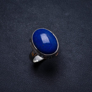 Natural Lapis Lazuli Handmade Unique 925 Sterling Silver Ring, US size 5.75 X3029