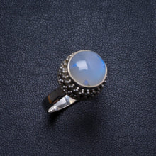 Natural Moonstone Handmade Unique 925 Sterling Silver Ring, US size 7 X3148