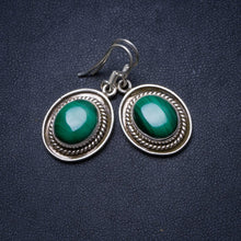 "Natural Malachite Handmade Unique 925 Sterling Silver Earrings 1.25"" X3496"