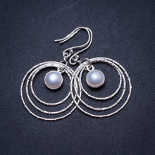 "Natural River Pearl Handmade Unique 925 Sterling Silver Earrings 2"" X3520"