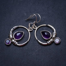 "Natural Amethyst Handmade Unique 925 Sterling Silver Earrings 1.5"" X3524"