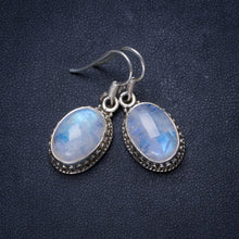 "Natural Rainbow Moonstone Handmade Unique 925 Sterling Silver Earrings 1.25"" X3558"