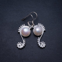 "Natural River Pearl Handmade Unique 925 Sterling Silver Earrings 1.5"" X3806"