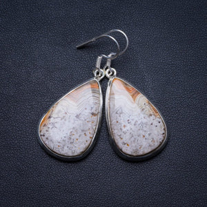 "Natural Crazy Lace Agate Handmade Unique 925 Sterling Silver Earrings 1.75"" X3817"