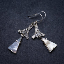"Natural Mother Of Pearl Handmade Unique 925 Sterling Silver Earrings 2"" X3848"