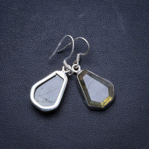 "Natural Labradorite Handmade Unique 925 Sterling Silver Earrings 1.5"" X4075"
