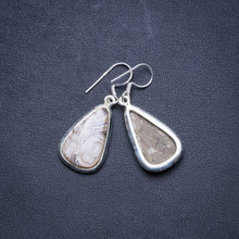 "Natural Crazy Lace Agate Handmade Unique 925 Sterling Silver Earrings 1.5"" X4573"