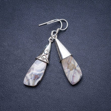 "Natural Crazy Lace Agate Handmade Unique 925 Sterling Silver Earrings 2"" X4707"
