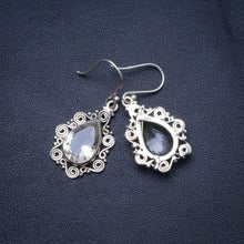 "Natural White Topaz and River Pearl Handmade Unique 925 Sterling Silver Earrings 1.5"" X4933"