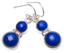 "Natural Lapis Lazuli Handmade Unique 925 Sterling Silver Earrings 1.25"" Y0253"