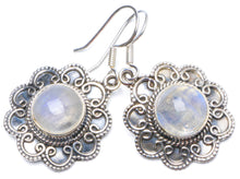 "Natural Rainbow Moonstone Handmade Unique 925 Sterling Silver Earrings 1.5"" Y0266"