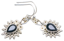 "Natural Black Onyx Handmade Unique 925 Sterling Silver Earrings 1.25"" Y0307"