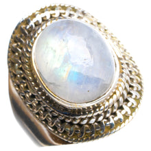 Natural Rainbow Moonstone Handmade Unique 925 Sterling Silver Ring 7.5 Y4564