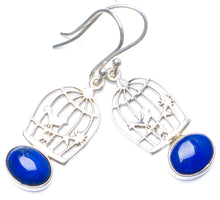 "Natural Lapis Lazuli Handmade Unique 925 Sterling Silver Earrings 1.5"" Y0516"