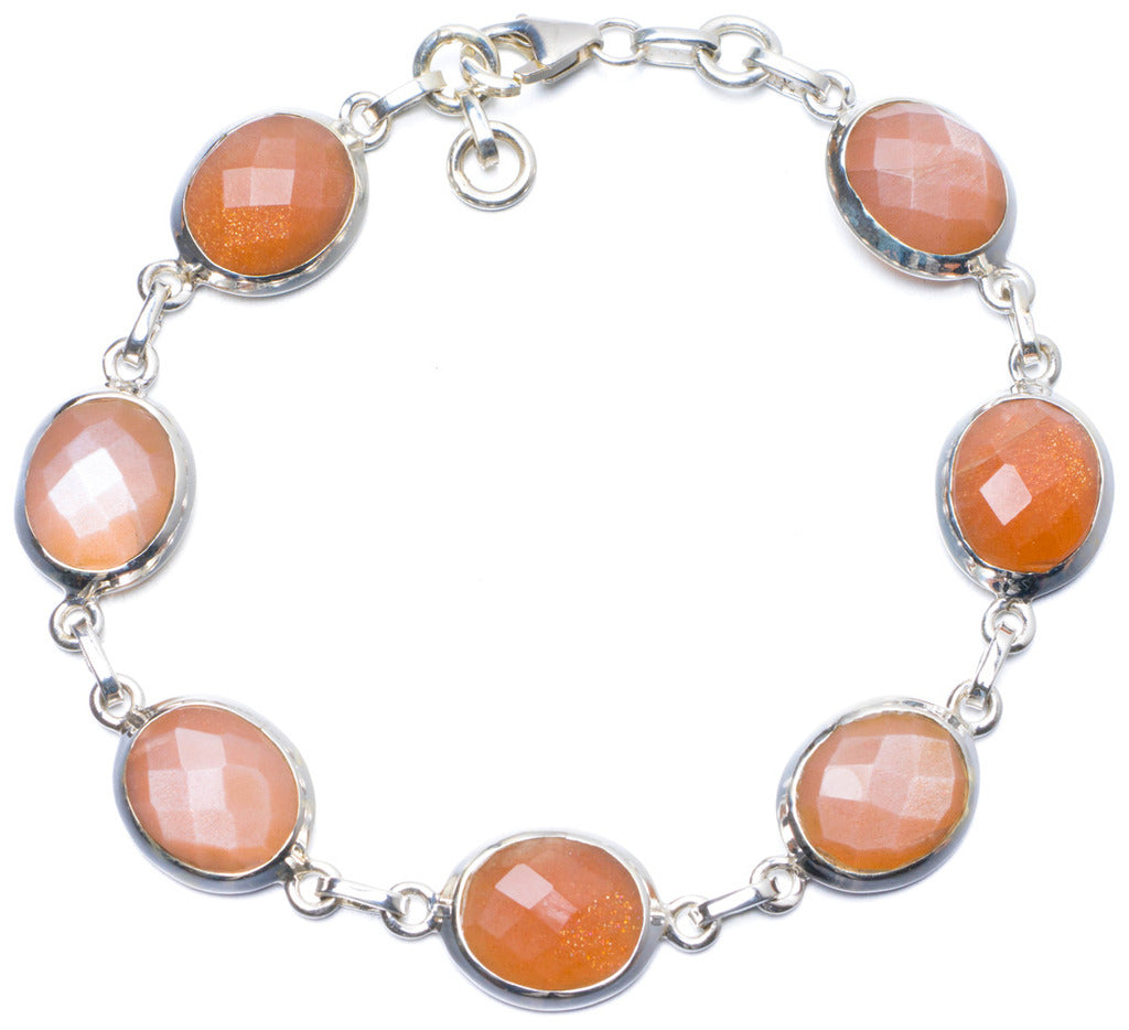 Natural Calcite Handmade Unique 925 Sterling Silver Bracelet 8-8 1/4