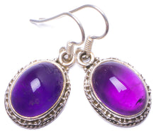 "Natural Amethyst Handmade Unique 925 Sterling Silver Earrings 1.25"" Y0931"
