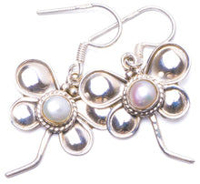 "Natural River Pearl Handmade Unique 925 Sterling Silver Earrings 1.25"" Y1033"