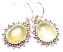 "Natural Prehnite Handmade Unique 925 Sterling Silver Earrings 1.25"" Y1215"