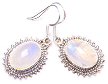 "Natural Rainbow Moonstone Handmade Unique 925 Sterling Silver Earrings 1.25"" Y1260"