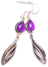 "Natural Amethyst Handmade Unique 925 Sterling Silver Earrings 2.25"" Y1281"
