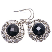"Natural Black Onyx Handmade Unique 925 Sterling Silver Earrings 1.25"" Y1537"