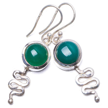 "Natural Chrysoprase Handmade Unique 925 Sterling Silver Earrings 1.75"" Y1757"