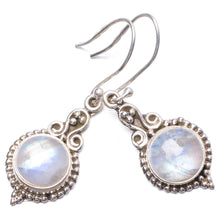 "Natural Rainbow Moonstone Handmade Unique 925 Sterling Silver Earrings 1.75"" Y1787"