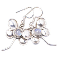 "Natural Rainbow Moonstone Handmade Unique 925 Sterling Silver Earrings 1.5"" Y1849"