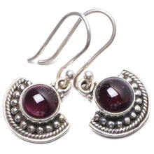 "Natural Amethyst Handmade Unique 925 Sterling Silver Earrings 1"" Y2555"