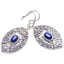 "Natural Lapis Lazuli Handmade Unique 925 Sterling Silver Earrings 1.5"" Y2650"