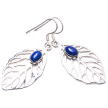 "Natural Lapis Lazuli Handmade Unique 925 Sterling Silver Earrings 2"" Y2923"