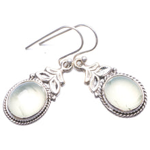 "Natural Prehnite Handmade Unique 925 Sterling Silver Earrings 1.25"" Y3123"