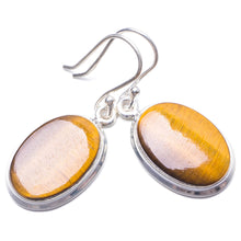 "Natural Tiger Eye Handmade Unique 925 Sterling Silver Earrings 1.25"" Y3209"
