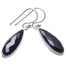 "Natural Black Onyx Handmade Unique 925 Sterling Silver Earrings 1.25"" Y3377"