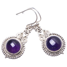 "Natural Amethyst Handmade Unique 925 Sterling Silver Earrings 1.5"" Y3576"