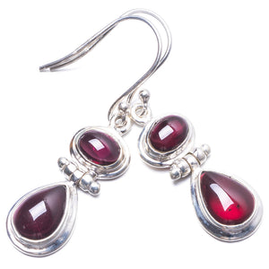 "Natural Amethyst Handmade Unique 925 Sterling Silver Earrings 1.5"" Y3835"