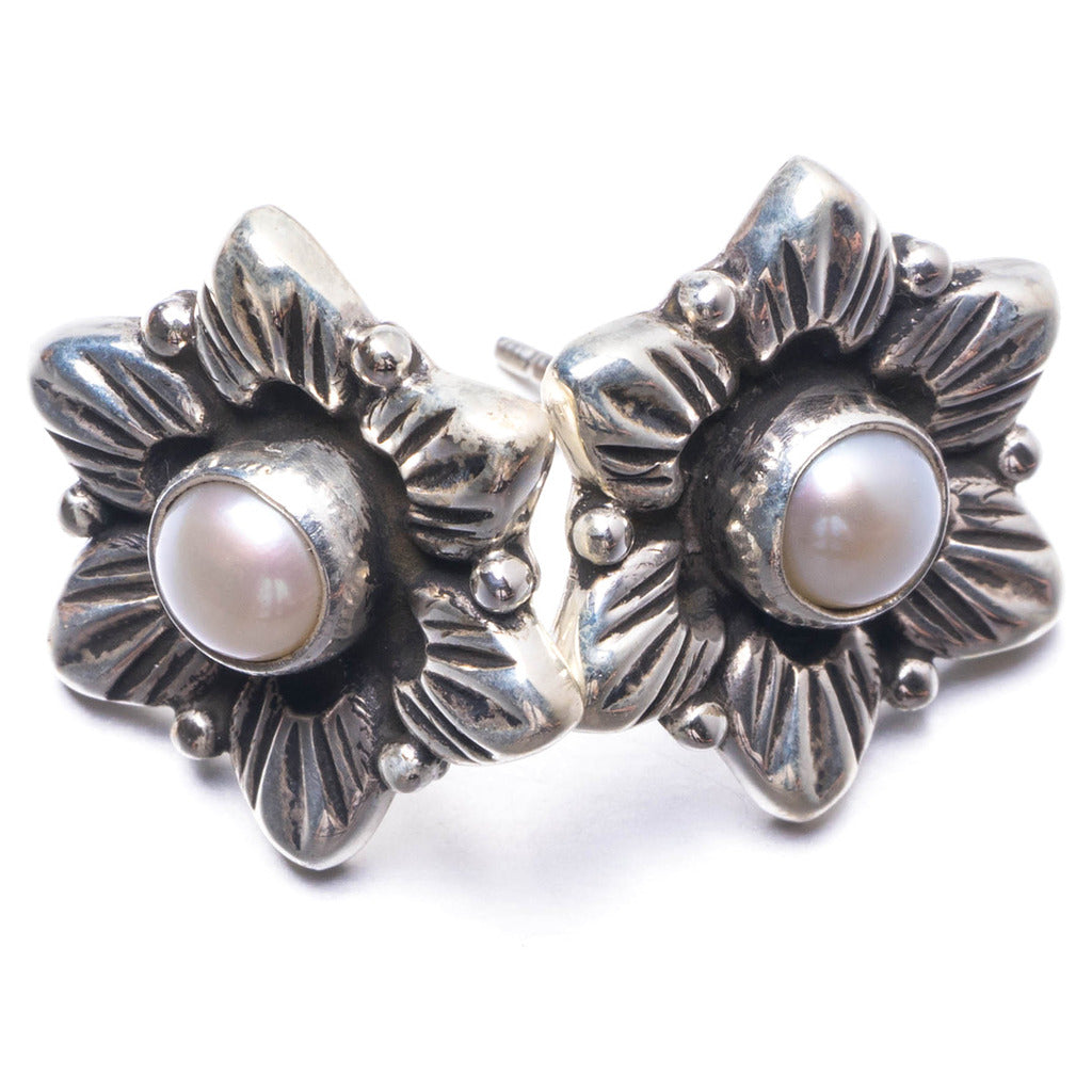 Natural River Pearl Handmade Unique 925 Sterling Silver Earrings 1