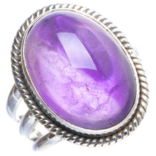 Natural Amethyst Handmade Unique 925 Sterling Silver Ring 9 Y4349