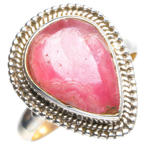 Natural Rhodochrosite Handmade Unique 925 Sterling Silver Ring 7.75 Y4428