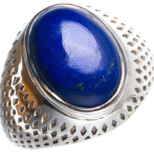 Natural Lapis Lazuli Handmade Unique 925 Sterling Silver Ring 8.75 Y4658