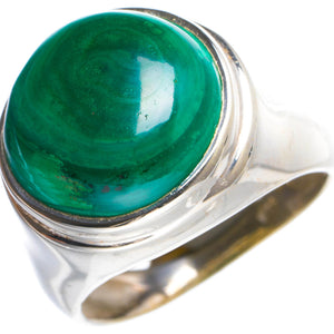 Natural Malachite Handmade Unique 925 Sterling Silver Ring 6 Y4677