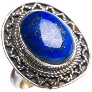 Natural Lapis Lazuli Handmade Unique 925 Sterling Silver Ring 6.5 Y4733