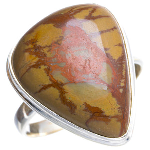 Natural Jasper Handmade Unique 925 Sterling Silver Ring 7.25 Y4737