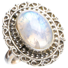 Natural Rainbow Moonstone Handmade Unique 925 Sterling Silver Ring 8.25 Y4768
