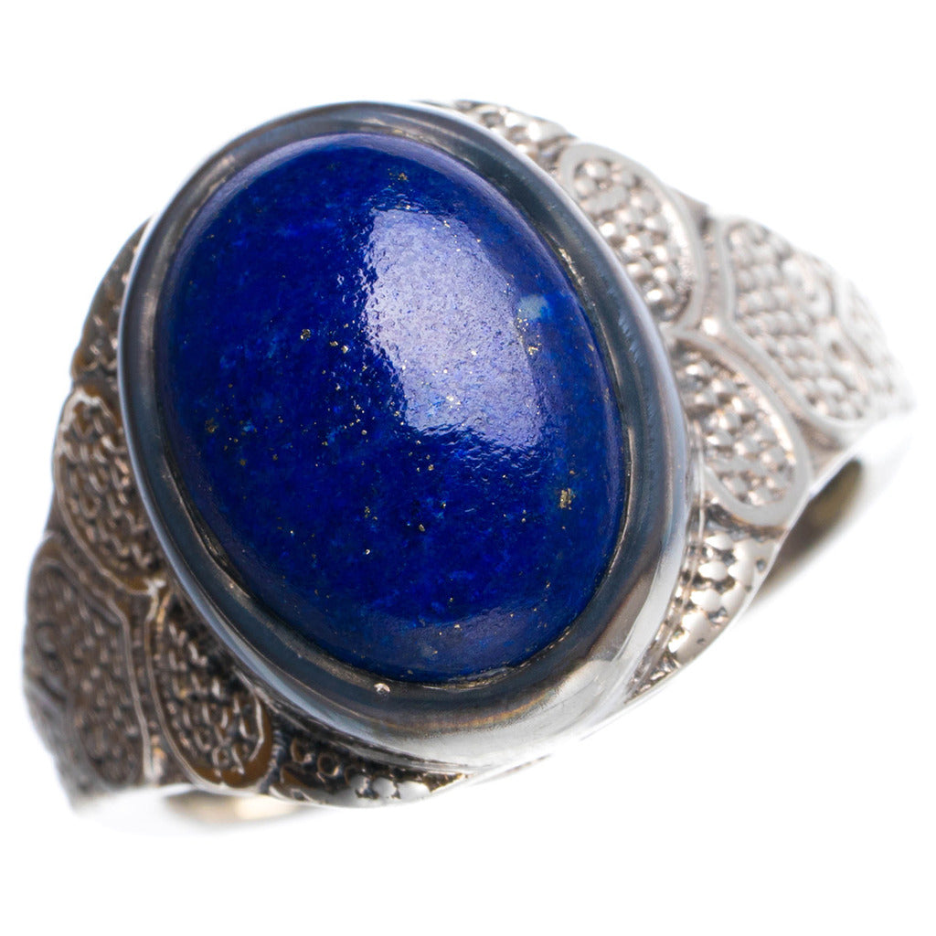 Natural Lapis Lazuli Handmade Unique 925 Sterling Silver Ring 7.75 Y4895