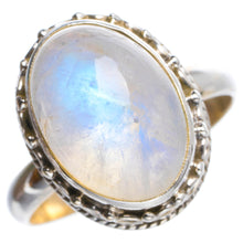 Natural Rainbow Moonstone Handmade Unique 925 Sterling Silver Ring 7 Y4914
