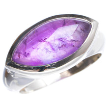 Natural Amethyst Handmade Unique 925 Sterling Silver Ring 6.75 Y4932