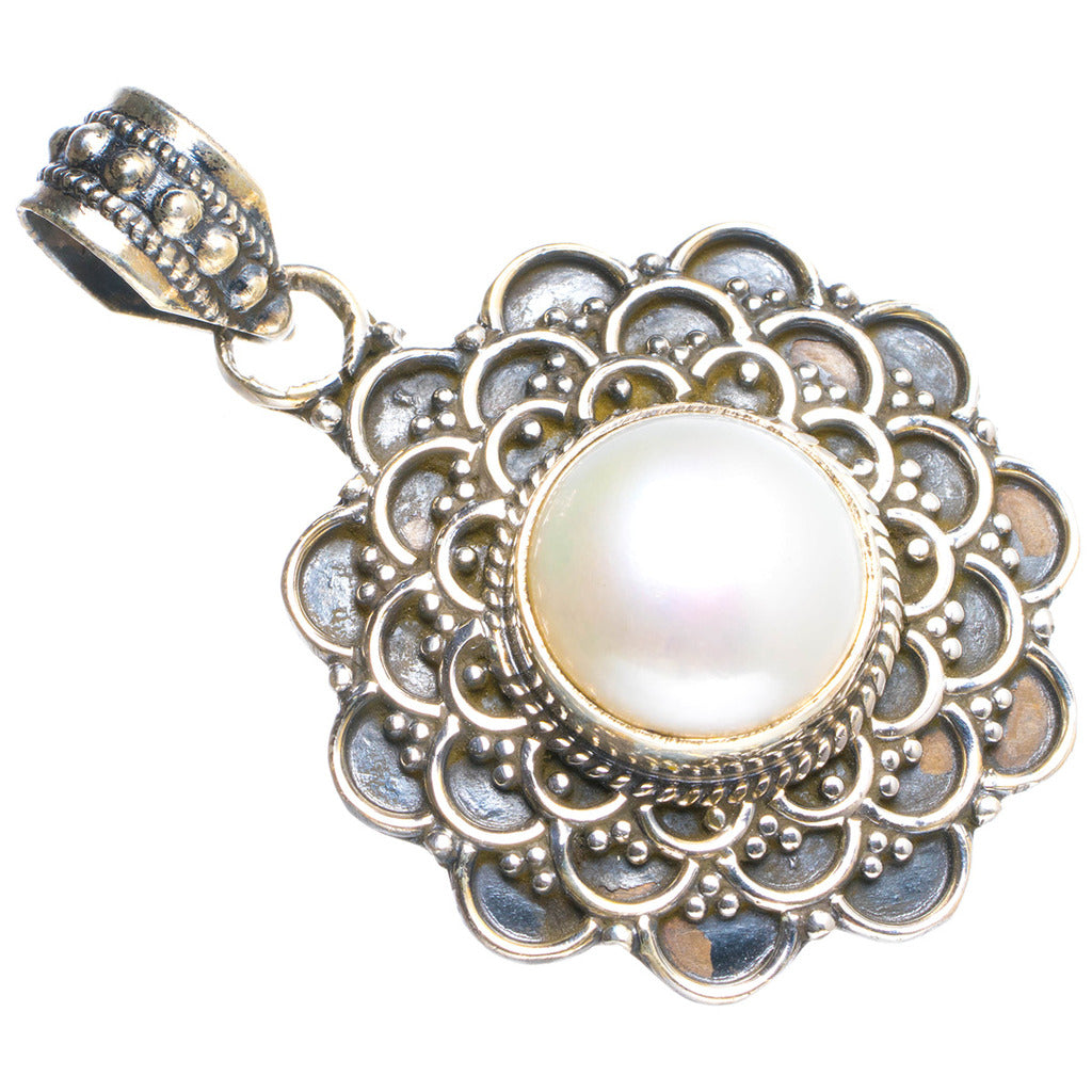 Natural River Pearl Handmade Unique Boho 925 Sterling Silver Pendant 1.5