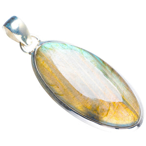 "Natural Blue Fire Labradorite Handmade Unique 925 Sterling Silver Pendant 2"" Y5206"